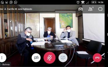 Reunión en el marco de la COBINABE con Autoridades de la Cancillería boliviana